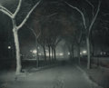 Photographs, Alfred Stieglitz (American, 1864-1946). An Icy Night, 1898. Photogravure, printed later. 4-7/8 x 6-1/4 inches (12.4 x 15...