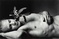 Duane Michals (American, b. 1932) Young Men Dream in the Garden of the Dead with Flowers Growing from Their Hea