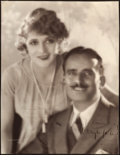 """Movie Posters:Miscellaneous, Mary Pickford and Douglas Fairbanks by Melbourne Spur (c. 1920s). Trimmed Autographed Portrait Photo (10.25"""" X 13.5"""").. ..."""
