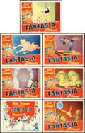 "Movie Posters:Animation, Fantasia (RKO, R-1946). Title Lobby Card & Lobby Cards (6) (11"" X 14"").. ... (Total: 7 Items)"
