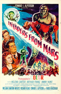 "Invaders from Mars (20th Century Fox, 1955). One Sheet (27"" X 41"")"