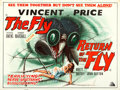 "Movie Posters:Science Fiction, The Fly/Return of the Fly (Grand National, R-1960s). British Quad(30"" X 40"").. ..."