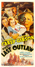 "Movie Posters:Western, The Last Outlaw (RKO, 1936). Three Sheet (41"" X 79.25"").. ..."