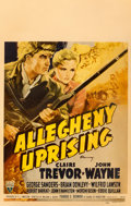 "Movie Posters:Action, Allegheny Uprising (RKO, 1939). Window Card (14"" X 22"").. ..."