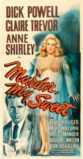 "Movie Posters:Film Noir, Murder, My Sweet (RKO, 1944). Three Sheet (41"" X 78.5"").. ..."