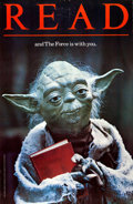 "Movie Posters:Science Fiction, READ...and The Force Is With You (American Library Association,1983). Library Poster (22"" X 34""). Science Fiction."