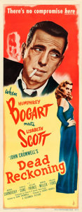 "Movie Posters:Film Noir, Dead Reckoning (Columbia, 1947). Insert (14"" X 36"").. ..."