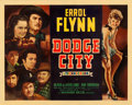 "Movie Posters:Western, Dodge City (Warner Brothers, 1939). Linen Finish Half Sheet (22"" X28"") Style B.. ..."