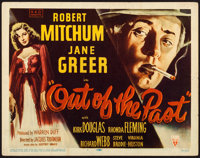 """Out of the Past (RKO, 1947). Title Lobby Card (11"""" X 14"""") William Rose Artwork"""