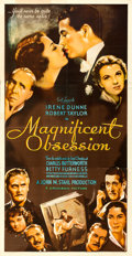 """Movie Posters:Drama, Magnificent Obsession (Universal, 1935). Three Sheet (41"""" X 79.5"""").. ..."""