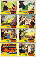 "Movie Posters:Animation, The Reluctant Dragon (RKO, 1941). Lobby Card Set of 8 (11"" X 14"")..... (Total: 8 Items)"