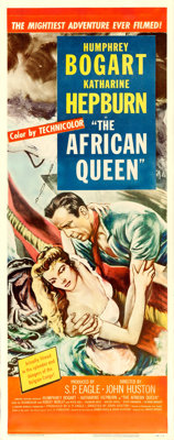 "The African Queen (United Artists, 1952). Insert (14"" X 36"")"