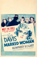 """Movie Posters:Crime, Marked Woman (Warner Brothers, 1937). Window Card (14"""" X 22"""").. ..."""