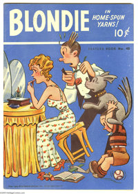 Feature Books #42 Blondie (David McKay, 1944) Condition: FN-. Overstreet 2005 FN 6.0 value = $63. From the Larry Jacobs...