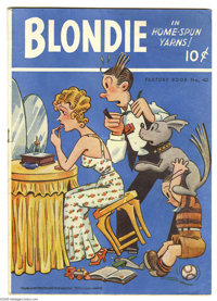 Feature Books #42 Blondie (David McKay, 1944) Condition: VG/FN. Overstreet 2005 VG 4.0 value = $42; FN 6.0 value = $63...
