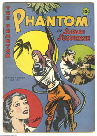 Feature Books #53 The Phantom in Safari Suspense (David McKay, 1947) Condition: VG. Great cover image. Lower right side...