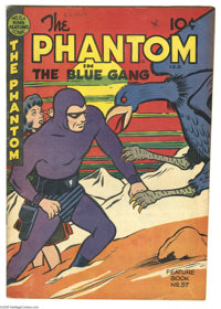 Feature Books #57 The Phantom in the Blue Gang (David McKay, 1948) Condition: FN. Beautiful artwork on the covers. Minor...