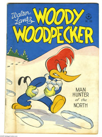 Four Color #169 Woody Woodpecker (#1) (Dell, 1947) Condition: VG. Drug use story. First issue of Woody Woodpecker. Overs...