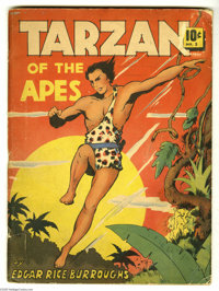 """Large Feature Comic #5 Tarzan (Dell, 1939) Condition: GD. Overstreet """"scarce"""" issue. Hal Foster art. Overstree..."""