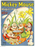 Magazines:Humor, Mickey Mouse Magazine V3#7 (K. K. Publications, Inc., 1938)Condition: VG. Great Seven Dwarfs at Easter cover. Some wear to ...