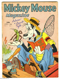 Mickey Mouse Magazine V4#7 - April (K. K. Publications, Inc., 1939) Condition: VG. Classic cover and story featuring Goo...