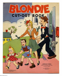 Blondie Cut-Out Book (Whitman, 1944). Early comic character books are difficult to find -- those featuring cut-out and/o...