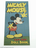 Memorabilia:Miscellaneous, Mickey Mouse Cut Out Doll Book (#980) (Saalfield, 1933) Condition: FN+. While the Larry Jacobs Collection being offered feat...