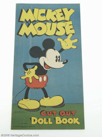 Mickey Mouse Cut Out Doll Book (#980) (Saalfield, 1933) Condition: FN+. While the Larry Jacobs Collection being offered...