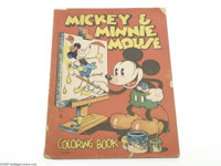 Mickey & Minnie Mouse Coloring Book (#979) (Saalfield, 1933). Prior to the 1930s, the basic coloring book was not wi...