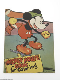 Mickey Mouse Book For Coloring (#2121) (Saalfield, 1936). Although collectors are used to seeing Disney books from such...