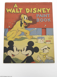 Walt Disney Paint Book (#677) (Whitman, 1937) Condition: FN/VF. Although many collectors have seen the Whitman reprint o...