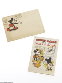 Mickey Mouse Recipe Scrap Book with Mailer (Walt Disney Enterprises, circa 1931). Here it is, pal! This delicious vintag...