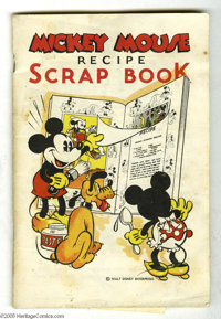 Mickey Mouse Recipe Scrap Book (Walt Disney Publications, c. 1938) Condition: VG-. This promotional publication hawked W...