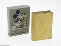 Mickey Mouse Book Bank with Box (Zell Products Company, circa 1930s). You can be sure that this little treasure from Zel...