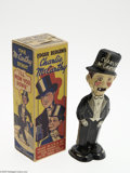 Memorabilia:Miscellaneous, Charlie McCarthy Walker with Box (Marx, 1938). This handsome lithographed wind-up tin Charlie McCarthy walker toy was manufa...