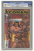 Modern Age (1980-Present):Miscellaneous, Conan #1 Second Printing (Dark Horse, 2004) CGC MT 10.0 White pages. Gem Mint copy. Bondage cover by J. Scott Campbell. Cary...