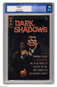 Dark Shadows #1 (Gold Key, 1969) CGC NM 9.4 Cream to off-white pages. This copy includes the original Barnabas Collins p...