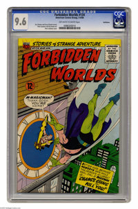 Forbidden Worlds #134 Bethlehem pedigree (ACG, 1966) CGC NM+ 9.6 Off-white to white pages. Pete Costanza cover and art...