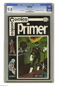 Primer #2 (Comico, 1982) CGC NM/MT 9.8 Off-white pages. First appearances of Grendel and Argent. Matt Wagner art. Overst...