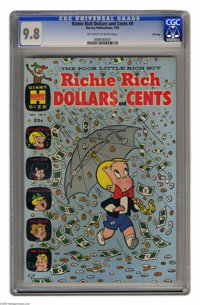 """Richie Rich Dollars and Cents #9 File Copy (Harvey, 1965) CGC NM/MT 9.8 Off-white to white pages. We used to think """"..."""