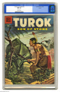Silver Age (1956-1969):Adventure, Turok #3 Circle 8 pedigree (Dell, 1956) CGC NM 9.4 Off-white pages. This series actually started with #3, following the char...