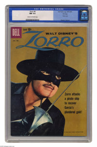 Zorro #8 File Copy (Dell, 1960) CGC NM 9.4 Cream to off-white pages. Photo cover. Warren Tufts interior art. Overstreet...