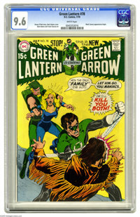 Green Lantern #78 (DC, 1970) CGC NM+ 9.6 White pages. This was the first of the Neal Adams/Denny O'Neil issues to featur...