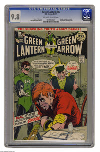 Green Lantern #85 (DC, 1971) CGC NM/MT 9.8 Off-white to white pages. This anti-drug issue (in which Speedy is revealed t...