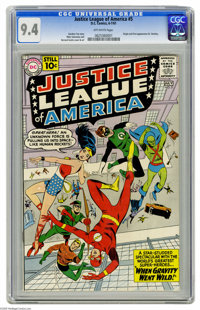 Justice League of America #5 (DC, 1961) CGC NM 9.4 Off-white pages. Doctor Destiny was a villain who menaced the JLA a n...