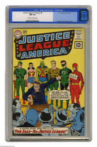 Justice League of America #8 (DC, 1962) CGC NM 9.4 Off-white to white pages. An auction of something superhero-related?...