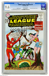 Justice League of America #9 (DC, 1962) CGC NM+ 9.6 Off-white pages. Despite having eight issues of this title under the...