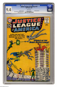 Justice League of America #13 (DC, 1962) CGC NM 9.4 White pages. In the DC Universe, having a robot double is no big dea...