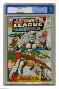 """Silver Age (1956-1969):Superhero, Justice League of America #15 (DC, 1962) CGC NM+ 9.6 Off-white towhite pages. While the JLA ponders how to beat the """"Untouc..."""