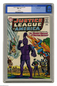 Justice League of America #34 Pacific Coast pedigree (DC, 1965) CGC NM+ 9.6 White pages. Here's an unusual JLA guest sta...
